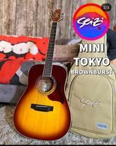 Violão Seizi Folk Mini Tokyo Brown Burst + Bag -