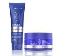 Violet Platinum Shampoo 240ml + Máscara 240g - Lowell -