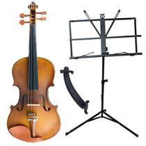 Violino Concert CV50 4/4 Completo Case Breu Arco Espaleira Estante -