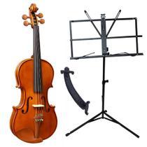 Violino Eagle VE 441 4/4 Completo Case Breu Arco Espaleira Estante -