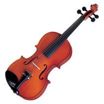 Violino Michael VNM40 Natural 4/4 Tradicional Com Arco De Crina -