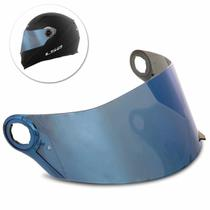 Viseira Capacete LS2 FF358 FF396 Helt Strada Texx Double Vision Fechado Anti-Risco Azul Iridium - Polivisor