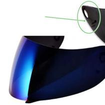 Viseira Capacete Vaz V-10/V-100 Com Botão Iridium Polivisor -
