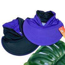 Viseira Turbante Dupla Face Com Proteção Solar Uv 50+ Azul Escuro E Preto - Bogu By Siss