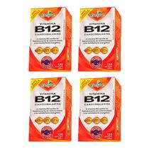 Vitamina B12 Cianocobalamina - 4 unidades de 120 Cápsulas - Katigua -