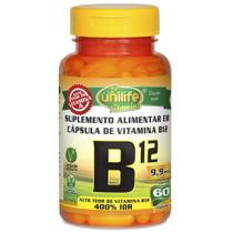 Vitamina B12 Cianocobalamina 60 cápsulas Unilife -