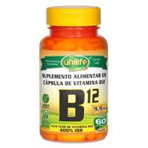 Vitamina B12 Cianocobalamina 60 Cápsulas Vegetarianas - Unilife -