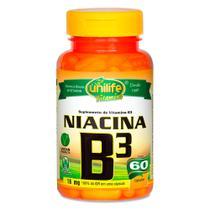 Vitamina B3 Niacina 60 Cápsulas Vegetarianas - Unilife -