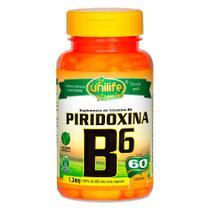 Vitamina B6 Piridoxina 60 Cápsulas Vegetarianas - Unilife -