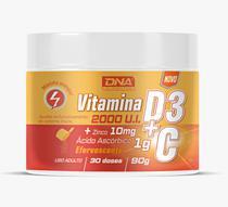 Vitamina C + Zinco + Vitamina D3 Pó Efervescente 30 Doses - Dna