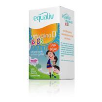 Vitamina D Kids - 200UI Por Gota - Infantil - Morango - Crescimento e Imunidade - Equaliv - 20ml -