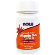 Vitamina D3 10,000 Ui 120 Softgels Now Foods