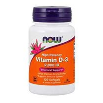 Vitamina d3 2000 ui now foods 120 soft gels