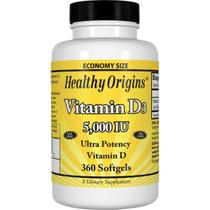 Vitamina D3 5000ui 360 Softgels Importado - Healthy Origins