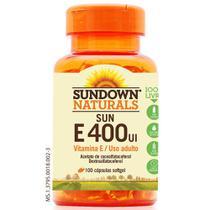 Vitamina Sun E400UI 100 cápsulas Sundown -