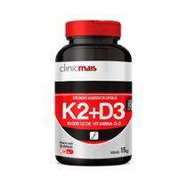Vitaminas K2 + D3 - 30 Cápsulas - Clinic Mais -