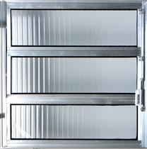 Vitro Basculante de Alumínio  0,80 X 1,00 Linha All Modular Cor Brilhante -