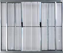 Vitro de Alumínio 4 Folhas 1,00 X 1,80 Com Grade Cor Brilhante Linha All Modular -