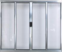 Vitro de Alumínio 4 Folhas 1,20 X 1,50 Sem Grade Cor Brilhante Linha All Modular -