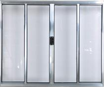 Vitro de Alumínio 4 Folhas 1,20 X 1,80 Sem Grade Cor Brilhante Linha All Modular -