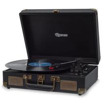 Vitrola Maleta Sonetto Raveo Toca Discos Preta - Vinil, USB e Bluetooth + Agulha Extra BRINDE -