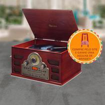 Vitrola Raveo Tenor Toca Disco Bivolt com Bluetooth USB Rádio FM e Cartão SD + Agulha Extra - Link do brasil