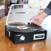 Vitrola Toca Discos de Vinil e Fita Cassete K7 com Conversor Digital e Alto Falantes Uitech -