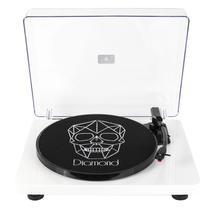 Vitrola Toca Discos Diamond Branca Agulha Japonesa com software de gravação  para MP3 Echo Vintage 4b8d38dd621