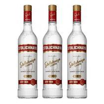 Vodka Stolichnaya 750ml 03 Unidades -