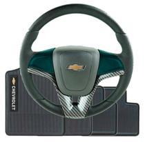 Volante Esportivo Cruze Fibra De Carbono Monza Celta Corsa Classic Celta Kadett + Cubo + Tapete GM - Chevrolet