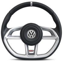 Volante Esportivo Golf GTI Prata Universal com Acionador de Buzina sem Cubo - RD Volantes