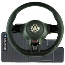 Volante Esportivo Jetta Quadrado Gol Parati Voyage Saveiro Entre Outros Cubo Incluso e Kit Tapete VW - Volkswagen