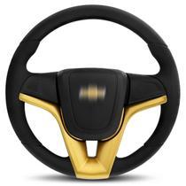 Volante Esportivo Modelo Cruze Dourado Celta Classic Corsa Monza Kadett Astra Prisma Cubo Embutido - Mas Volantes