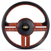 Volante Esportivo Rallye Slim Madeira Corsa Celta Astra + Acionador de Buzina Sem Cubo + Emblema GM - Prime