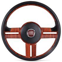 Volante Esportivo Rallye Slim Madeira Palio Strada Uno + Acionador de Buzina Sem Cubo Emblema Fiat - Prime