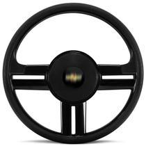 Volante Esportivo Rallye Slim Preto Corsa Celta Astra Com Acionador de Buzina Sem Cubo + Emblema GM - Prime
