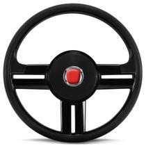 Volante Esportivo Rallye Slim Preto Palio Strada Uno + Acionador de Buzina sem Cubo + Emblema Fiat - Prime