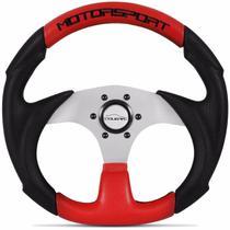 Volante Esportivo Tuning Motorsport Preto E Vermelho Cougar -