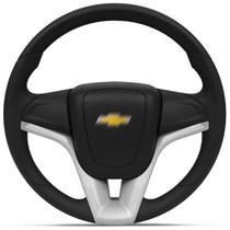 Volante Esportivo Universal Sem Cubo Prata com Acionador de Buzina Modelo Cruze - MAS Volantes