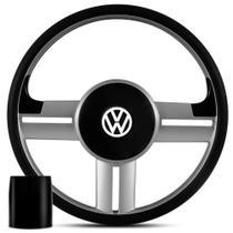 Volante Esportivo Volkswagen Rallye Original Prata + Cubo para Gol, Parati, Saveiro e Voyage -