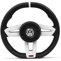 Volante Esportivo Vulcano Volkswagen Preto com Prata para Gol, Parati, Saveiro e Voyage - Omega volantes