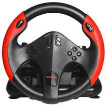 Volante Gamer Multilaser com Marcha e Pedal Multiplataforma PS4, PS3, Xbox One, PC JS087 - Multilaser -