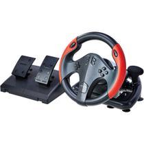 Volante Gamer Multiplataforma Com Marcha e Pedal Multilaser- Js087 -