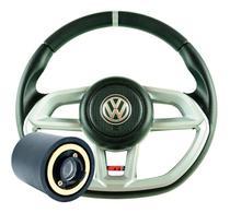 Volante Golf Esportivo Gti Gol G1 G2 G3 G4 G5 G6 Prata Cubo Completo - Volkswagen