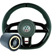 Volante Golf Esportivo Gti Gol G1 G2 G3 G4 G5 G6 Preto Cubo Completo - Volkswagen