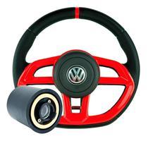 Volante Golf Esportivo Gti Gol G1 G2 G3 G4 G5 G6 Vermelho Cubo Completo - Volkswagen