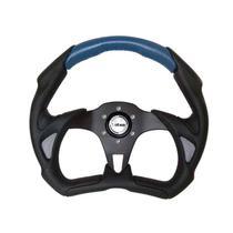 Volante Lotse Esportivo Grid Escovado Azul -