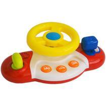 Volante Meu Primeiro Brinquedo Interativo Alimentação por 2 Pilhas AA Indicado para +12 Meses Multikids Baby - BR1025 -