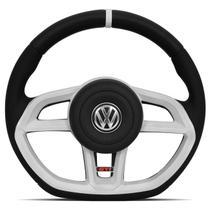 Volante Modelo Golf GTI Vision Branco Acionador de Buzina Universal Gol Parati Saveiro Voyage - RD Volantes