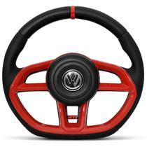 Volante Modelo Golf GTI Vision Vermelho Acionador de Buzina Universal Gol Celta Astra Saveiro - Mas Volantes